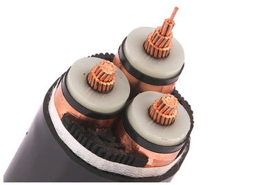3 Core XLPE Insulated Electrical Cable , 26/35kV Medium Voltage Power Cable